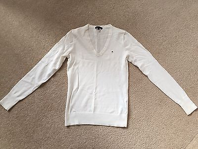 Tommy Hilfiger Long Sleeve Knit White Size S Ladies Pullover