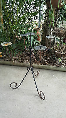 Rustic Metal 5 Candle Candleabra