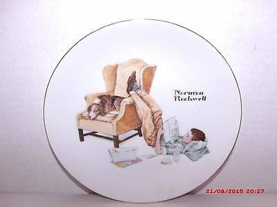 Norman Rockwell A The Student Collectors Edition Limited Series Porcelain Plate