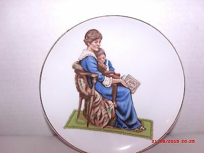 Norman Rockwell Bedtime Limited Edition Collector Plate Porcelain (c) 1986