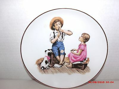 Vintage Norman Rockwell Music Master Limited Edition Collector Plate Porcelain