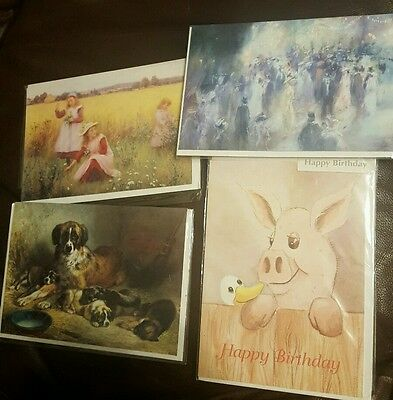 4 good quality birthday cards in plastic wrap with envelopes
