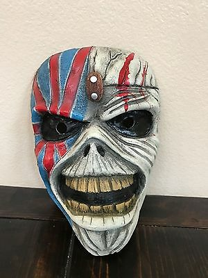 Iron Maiden Fiberglass Adult Half Mask! Halloween! Vintage Looking!