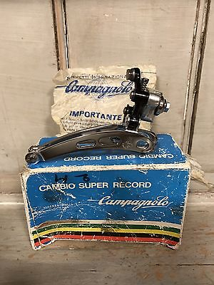 NOS Campagnolo Vintage Super Record Braze On Front Derailleur New In Box