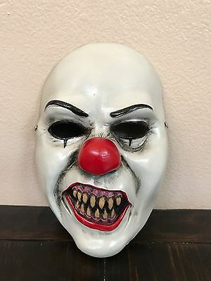 Pennywise IT Teeth Fiberglass Adult Half Mask! Halloween! Curry! King!