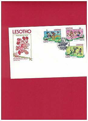 Lesotho Old Christmas Mickey Mouse Minnie FDI