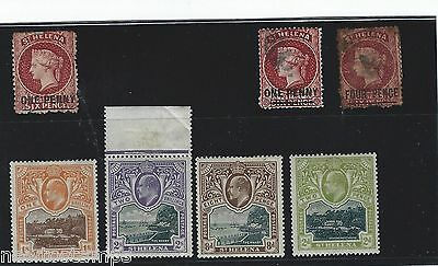 British Commonwealth St Helena early  mint & used stamps QV and KE