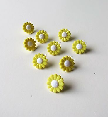 13mm Daisy Shank buttons in packs of 6 or 10 various colours only 99p shipping