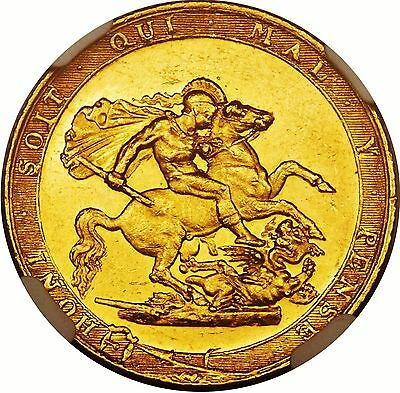 1817 George Iii Gold Sovereign; Rare First Year Type