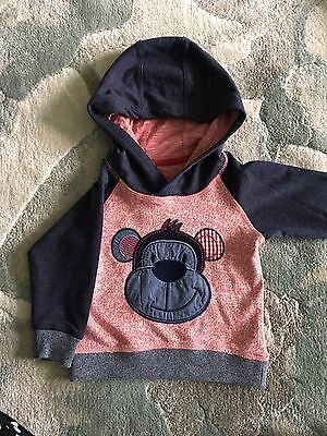 9-12 Months Baby Boy Hoodie Jumper New With Tags