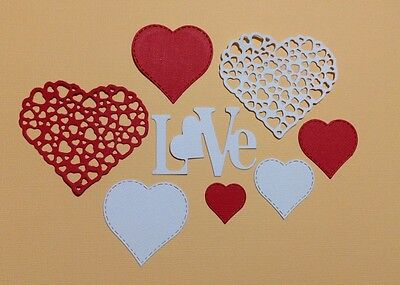 Scrapbooking-Card-Die-Cut-Craft-Embellishments - Love & Hearts (8)