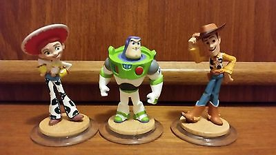 Disney Infinity Toy Story Jessie Woody Buzz Lightyear Figures Bulk Lot Toys Rare