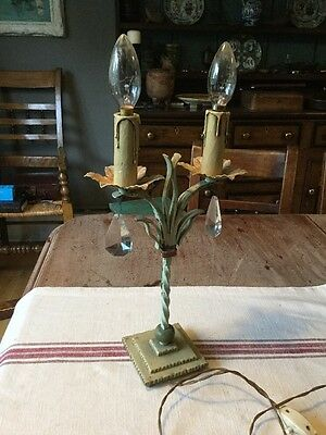 Beautiful Vintage French Wrought Iron Table Lamp