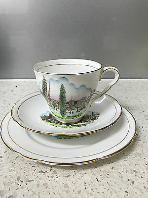 Vintage Royal Stafford Bone China Cup Sauser and Plate MADE IN ENGLAND