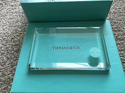 Tiffany & Co. Genuine Glass Paper Weight