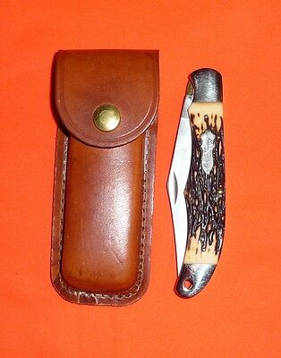 Schrade-USA-127UH-Uncle Henry-Folding Hunter-Lockback Knife-MINT in Sheath