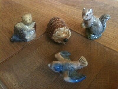 Set of 4 vintage collectable Wade Whimsie animals/birds