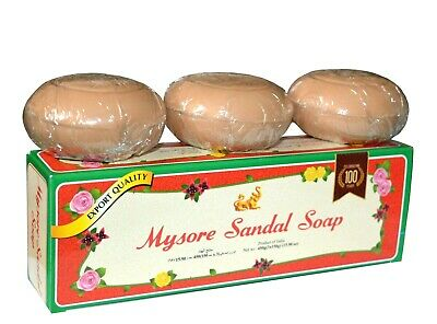 Mysore Sandal / Sandalwood Soap 150g x 3pc Export Quality