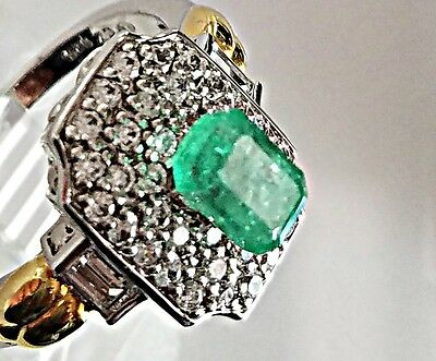 1.20Ct Natural Colombian Emerald Loose Stone Emerald Cut Gemstone