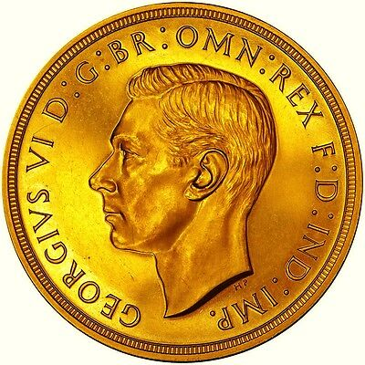 1937 George Vi Gold  Proof Specimen Five Pounds Superb Example