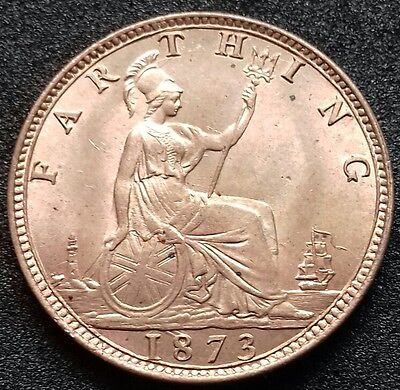 1873 Farthing. S3958. Uncirculated With Much Lustre.