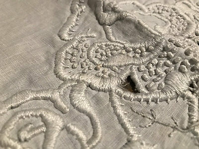 Vintage Whitework Roses Table Centre.exceptional Embroidery.