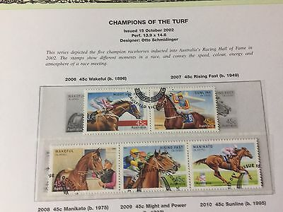 Australia 2002 Champions Of The Turf Fine Used/cto Stamps