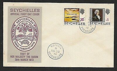 (111cents) Seychelles 1972 Visit of Her Majesty the Queen First Day Cover