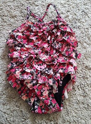 BabyGap pink floral swimsuit age 6-12 months