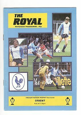 Reading v Orient 1985 - 1986  Freight Rover Trophy