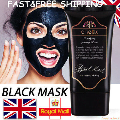 ONE1X Purifying Blackhead Remover Black Face Mask Peel Off Charcoal Mask NEW