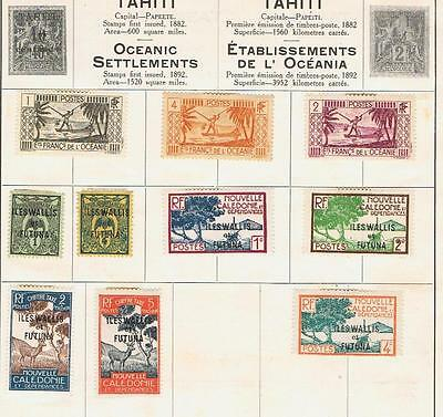 France French Colonies Oceanic Wallis and Futuna 1920 onwards  album page Used