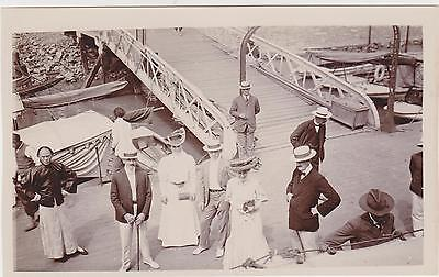 Original Photo Hong Kong Landing Stage Harbour Asia China Private Photo C 1896