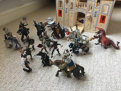 Schleich & Papo knights, horses and dragons bundle