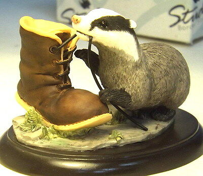 Collectable Border Fine Arts Studio Young Badger in Box A7682 (WH_0666)