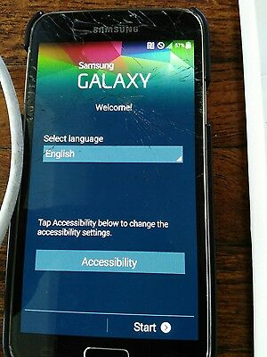 Samsung galaxy s5 with Cord, Case, Tempered Glass Protector and New Screen