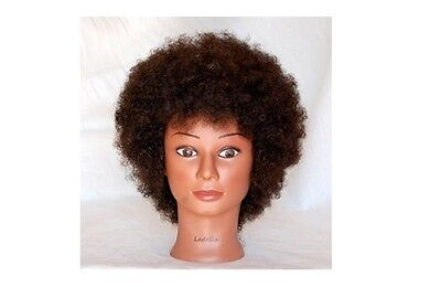 Ladella Beauty Cosmetology Mannequin Afro 100% Human Hair Training Head