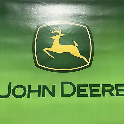 John Deere Large Banner Sign Advertising Tractor Deer Logo Green Double Sided