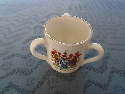 Lovely little Gemma crested china three handled cup Southend on sea