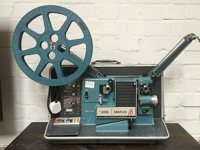 VINTAGE GENERAL PRECISION GRAFLEX 16mm MOVIE PROJECTOR MODEL 615