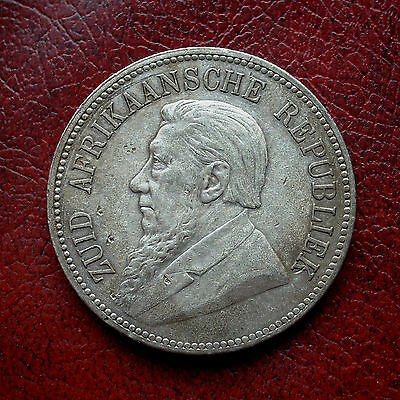 South Africa 1892 single shaft silver 5 shillings