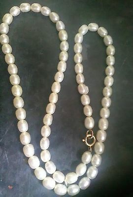 9ct gold fresh water pearl necklace