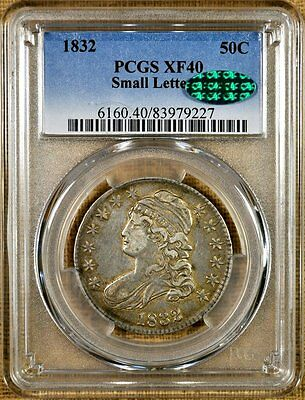 1832 O-118 PCGS XF40 Bust Half Dollar - CAC Stickered