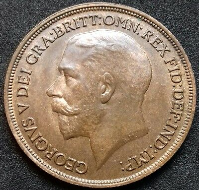 1914 Penny. S4051. Good Extremely Fine. George V British Bronze Coins