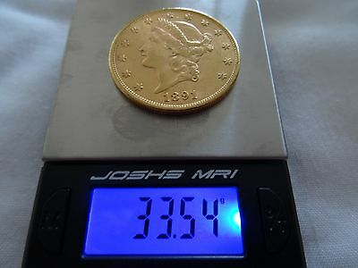 20 Dollars Or Double Eagle 1891 S Liberty Head Gold Coin
