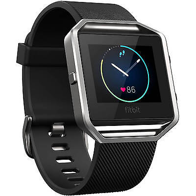 Fitbit Blaze Smart Fitness Watch Heart Rate Activity Wristband, Black, Large NEW