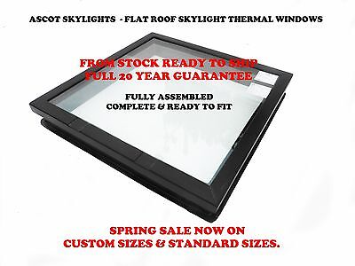 Flat Roof Skylight Window Lantern Pyramid Any Size Style 20 Yr Guarantee