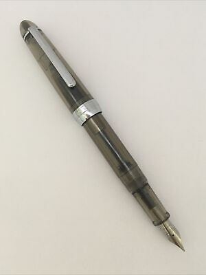 New Jinhao 992 Clear Black Chrome Trim Fine Nib Fountain Pen-Converter-Uk Seller