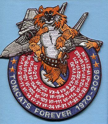 """GRUMMAN F-14 TOMCAT SQUADRON LIST FOREVER VF- US Navy Fighter Squadron 6"""" Patch"""