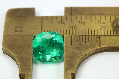 3.93cts AAA+ Medium Green, Fine Loose Colombian Emerald Cushion, Invest MUZO